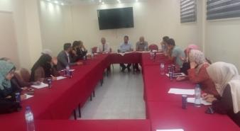 لجنة التدريب بنقابة المحامين الشرعيين تعقد اجتماعاً طارئاً لمناقشة سير عملها.