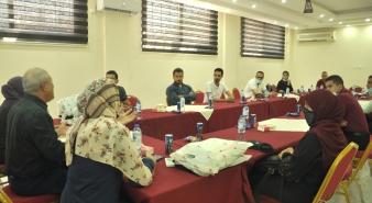 نقابة المحامين تقيم لقاءً مع الزملاء المتضررة مكاتبهم خلال العدوان الأخير على قطاع غزة